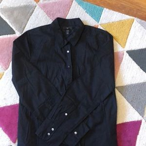 Fitted black button down J Crew shirt. Never worn